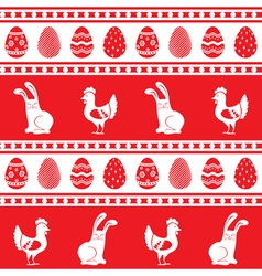 Easter ornament pattern vector