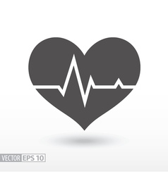 Heart beat - flat icon vector