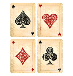 Decrepit playing cards set vector