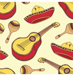 Hand drawn mexican seamless pattern vector