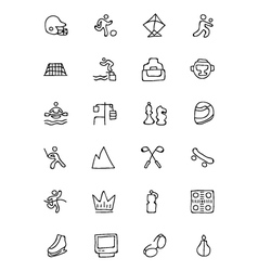 Sports hand drawn doodle icons 6 vector