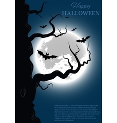 Halloween background with tree vector