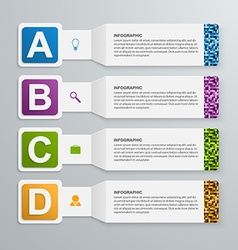 Abstract 3d paper infographic elements vector