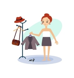 Dressing down daily routine activities of women vector