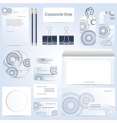 Abstract corporate style vector