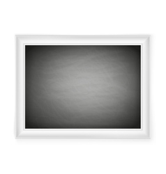 Blank chalkboard in light frame eps 10 vector