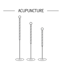 Elements for acupuncture and massage tcm vector
