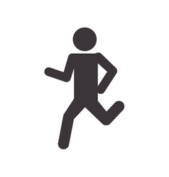 Pictogram running icon healthy lifestyle design vector