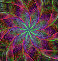 Abstract shiny colorful fractal spiral background vector