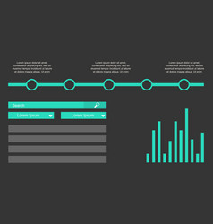 Business infographic background graphic design vector
