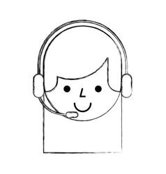 Call center agent avatar vector