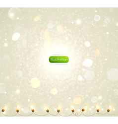 Christmas background with fairy lights vector
