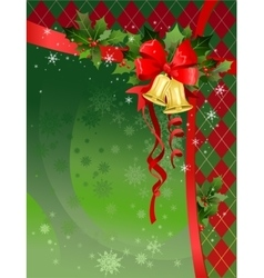 Christmas festive background with bells vector image