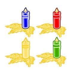 Christmas trimmings candle faience vector