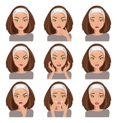 Collection of emotions vector image vector image