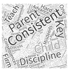Consistency is key to successful discipline word vector