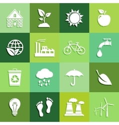 Ecology flat icons vector