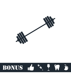 Free flex gear crossbar icon flat vector image