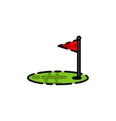 Golf flat icon vector image vector image