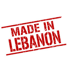 Made in lebanon stamp vector