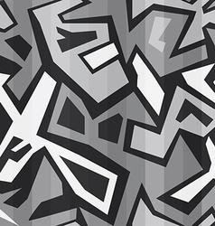 monochrome graffiti seamless vector image vector image
