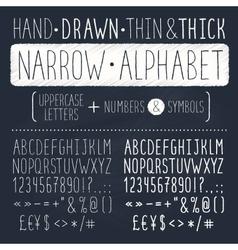 Narrow alphabet vector