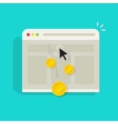 Pay per click ppc internet advertising vector