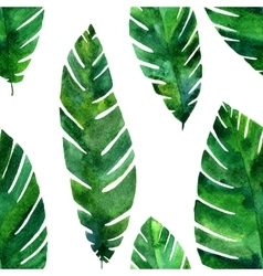 seamless pattern with watercolor green vector image vector image