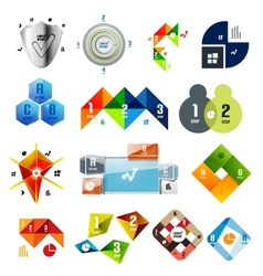 Set of infographic templates and elements vector image