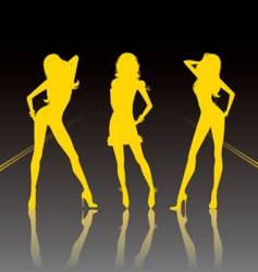 sexy silhouettes vector image vector image