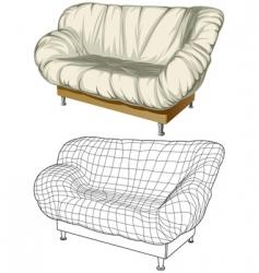 sofa 3d construction vector image