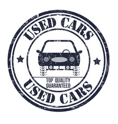 Used cars stamp vector