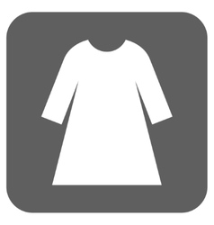 Woman dress flat squared icon vector