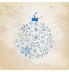 Christmas Ball made from Vintage Snowflakes vector image