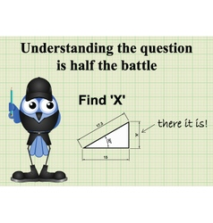 Find X mathematical question vector image