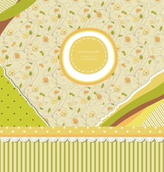 Baby vintage background vector image