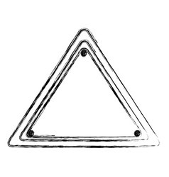 Blurred silhouette triangle warning traffic sign vector