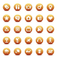Icons for travel and leisure vector