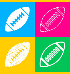 American simple football ball four styles of icon vector