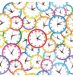 Seamless pattern with colorful clocks vector image