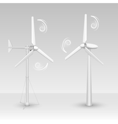 Wind turbines isolated vector