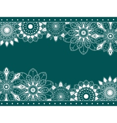Abstract border with floral elements vector