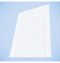 notebook paper sheet vector image