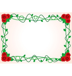Frame with roses and spikes vector image