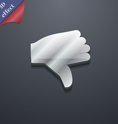 Dislike thumb down icon symbol 3d style trendy vector