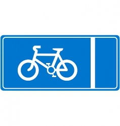 Cycle lane vector