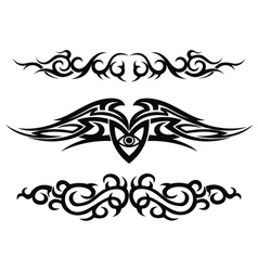 Set of tattoo design elements vector