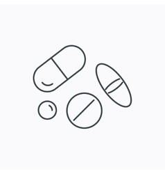 Pills icon medicine tablets or drugs sign vector