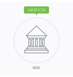 Bank icon court house sign vector