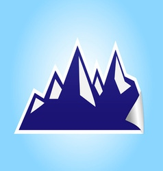 Icy mountain sticker vector